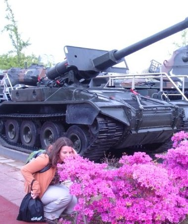 tank and flowers