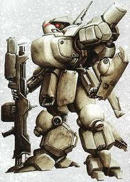 Battle Mech With Assault Rifle