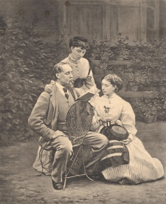 Charles Dickens with his family