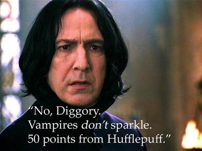 Snape no Diggory vampires don't sparkle