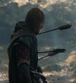Boromir with arrows