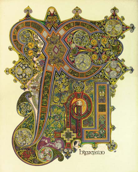 The stunning Chi Rho page from the Book of Kells