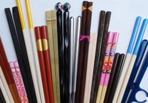 multi-colored chopsticks