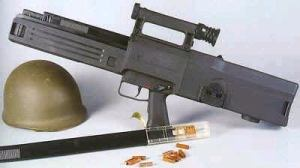 Heckler and Koch g11 rifle with caseless ammunition