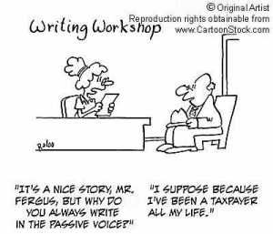 passive voice cartoon funny
