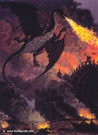 J R R Tolkien The Hobbit Bard Lake-Town Smaug black arrow