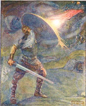 beowulf and the dragon painting