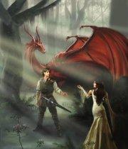 Richard Kahlan and Scarlet by SwordOfTruthClub