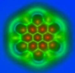 afm hexabenzocoronene molecule image