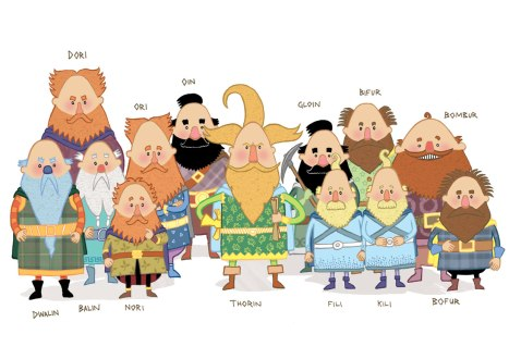 David OConnell 13 Dwarves the hobbit Pixelsmithstudios