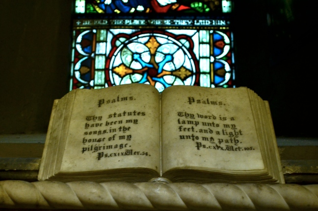 stone bible Saint Patrick's cathedral dublin ireland
