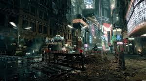 cyberpunk noir cityscape