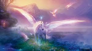 fantasy pegacorn pegasus pastel painting
