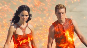 catching fire chariot costume