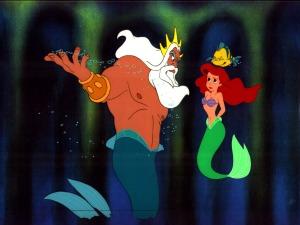 little mermaid ariel triton