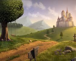 magic fantasy castle landscape