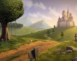 magic fantasy castle landscape