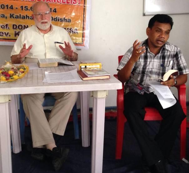 Teaching; Rev. Kartik Pal interprets into local language.