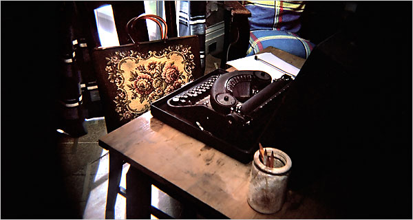 Miss Flannery's writing desk.