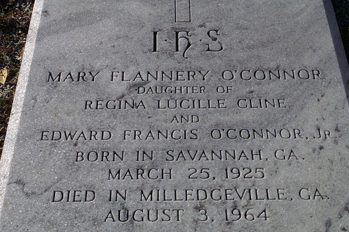 Miss Flannery's gravestone.