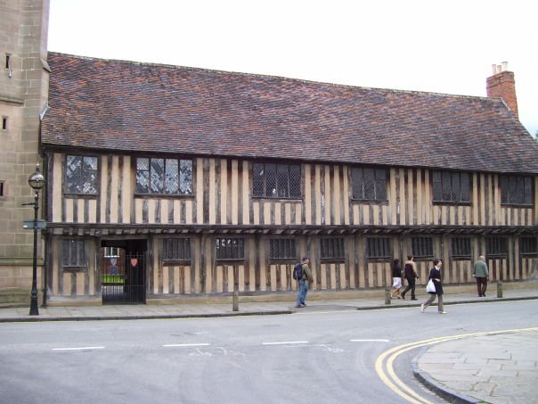 Shakespeare's Grammar School.  He learned to read Latin there.