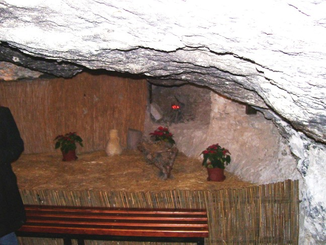 A Cave in Bethlehem, like the one where Jesus was born