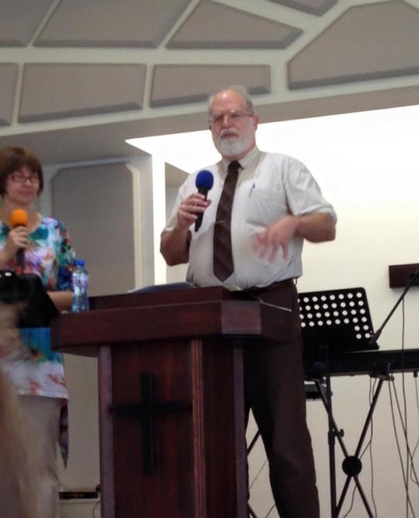 Preaching at Evangelical Pentecostal Church, Varna