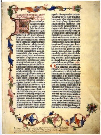 Gutenberg bible. The printing press was one contribution of the Renaissance.